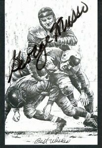 Chicago-Bears-GEORGE-MUSSO-Hall-of-Fame-postcard-autographed-signed-in-black