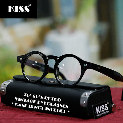 Vintage Fashion Eyeglasses Classic Round New Mens Womens Retro Black Clear Lens