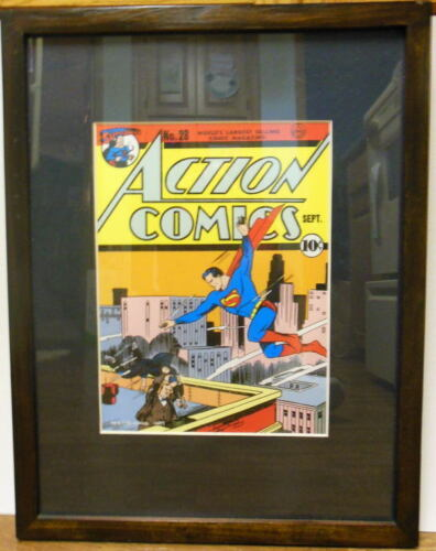 "ACTION COMICS #28 PRINT PROFESSIONALLY MATTED FRAMED 19"" x 24"""