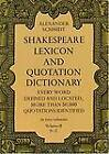 Shakespeare Lexicon and Quotation Dictionary, Vol. 2 by Alexander Schmidt (Paperback, 1971)