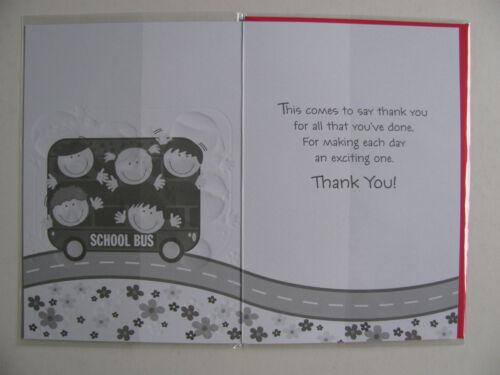 Card Thank You Teacher Playschool Assistant End Term Tutor Exam Math English Kid