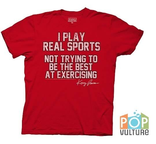"""Eastbound and Down Kenny Powers """"I Play Real Sports"""" Red T-Shirt &"""