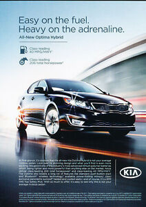 Image Is Loading 2017 Kia Optima Hybrid Sedan Clic Vintage Adver