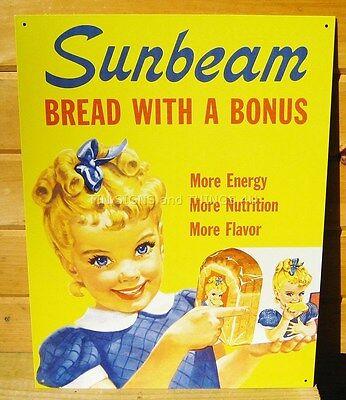 Little Miss Sunbeam TIN SIGN metal poster vintage bread ad wall art decor #630