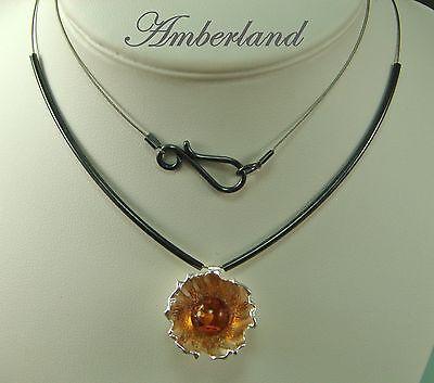 Amber  Natur  Bernstein Schmuck  Collier  925  Silber   Top Qualität