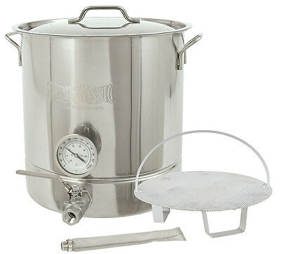 Bayou Classic 16-Gallon Beer Brewer Kettle Kit Stainless Steel 64-qt Tri-Ply