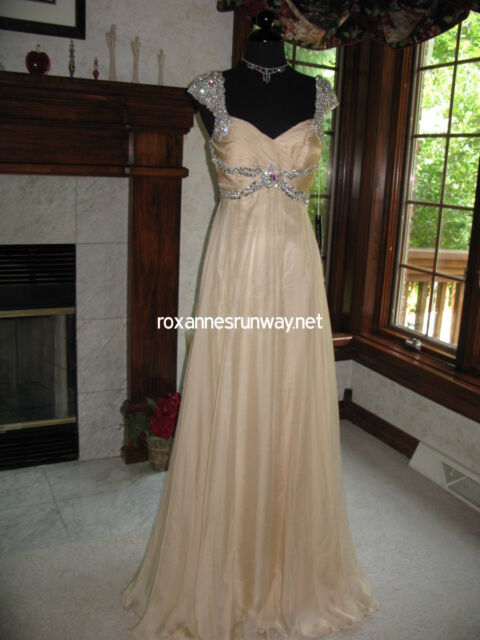 Sherri Hill 3843 Nude Gala Gown Dress 6