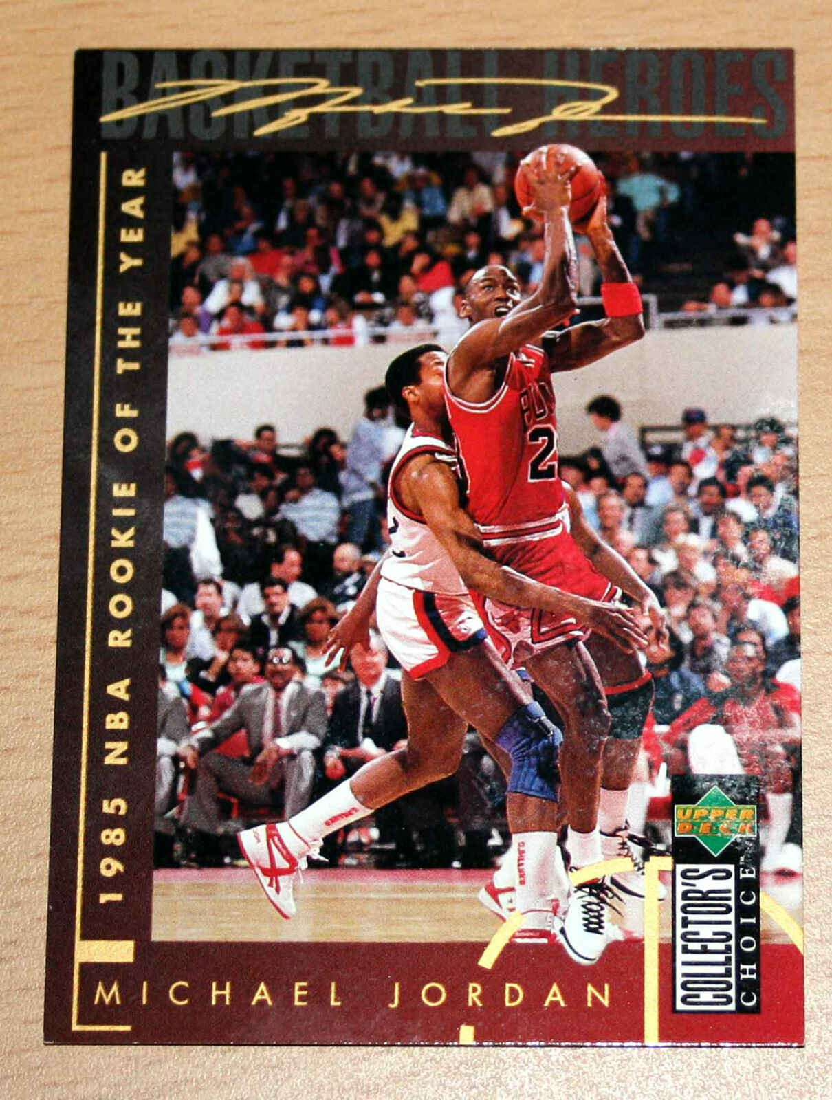 Details About Michael Jordan 1994 Collector Choice 1985 Nba Rookie Of Year Gold Signature Card