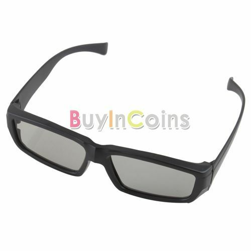 New Circular Polarized Passive Plastic 3D Glasses For DVD Movie Game