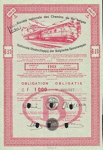 BELGIUM-NATIONAL-SOCIETY-OF-BELGIAN-RAILWAYS-BOND-stock-certificate