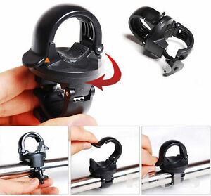New-Rotation-Torch-Clip-Mount-Bike-Bicycle-Front-Light-Bracket-Flashlight-Holder