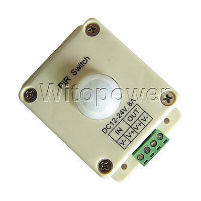 PIR Switch DC 12-24V 8A Infrared PIR Motion Sensor For LED Strip Light Bulb