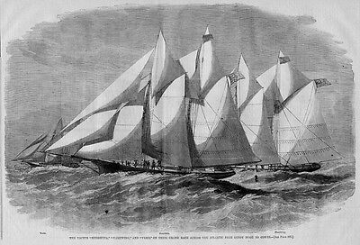 SANDY HOOK YACHT RACE ACROSS THE ATLANTIC, 1866 SAILING