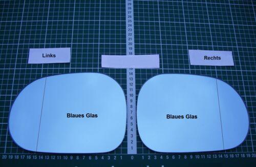 Außenspiegel Spiegelglas Ersatzglas Mercedes ML W163 ab 1997-2002 L o R asp Blau