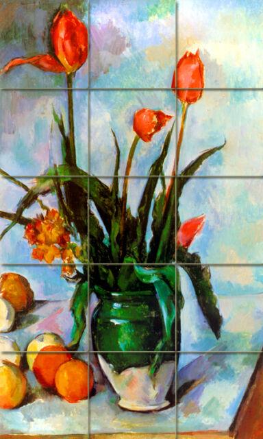 Art Cezanne Tulips Vase Mural Ceramic  Backsplash Bath Decor Tile #72