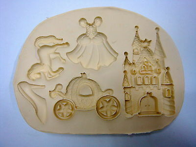 Cinderella Set, Silicone Mold Chocolate Polymer Clay Jewelry Soap Melting Wax