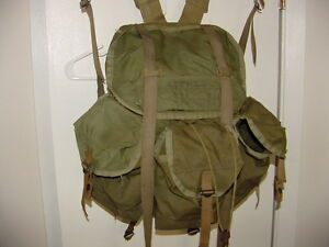 US-Army-Tropical-Jungle-Rucksack-pack-Nylon-X-Frame-Plastic-Snaps-LOOK-SF-Ranger