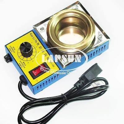 220V 150W Mini Stainless Steel Tin Furnace Lead Free Solder Pot Dia 50mm KLT350