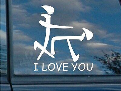 I LOVE YOU funny japanese jdm honda vw dub euro  car vinyl sticker decal