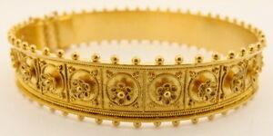 Estate 18K Yellow Gold Etruscan Style Bracelet - retail value $5,000