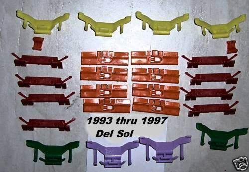 Honda Del Sol 2D Coupe Windshield Molding Clip Plastic Window Glass Front 1994