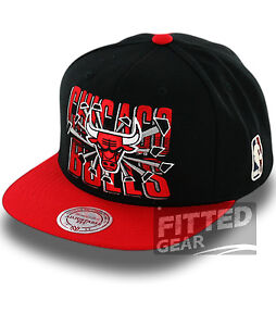 Chicago-BULLS-BACKBOARD-BREAKER-Black-Red-NBA-Mitchell-amp-Ness-Snapback-Hats-Caps