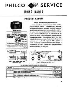 PHILCO-1946-1953-RADIO-CLOCK-RADIO-SERVICE-MANUAL-ANTIQUE-VINTAGE