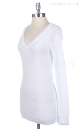 V Neck Raglan Knit Solid Ribbed Long Sleeve Sweater Top Warm Casual Comfortable