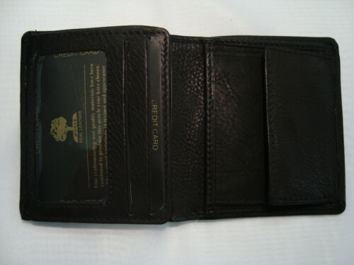 Top Quality Gents Leather Wallet with id Flap and Change Boxed