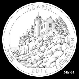 2012-P-D-ACADIA-NATIONAL-STATE-PARK-QUARTER-SET-BU-MINT-25-CENT-MS-NOT-SILVER