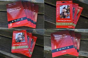CANON PIXMA PHOTO PAPER PLUS, MULTI SIZES, GLOSSY SEMI-GLOSS 5X7-8X10-8.5X11-ETC