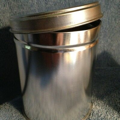 12 slip top 16oz blank tin cannisters, small parts, spices, geocaching, ashtray