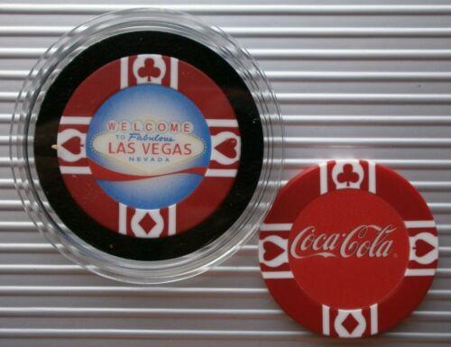 COCA COLA LAS VEGAS SIGN CASINO POKER CHIP CARD GUARD//PROTECTOR WSOP WPT COKE