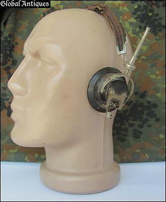 WWII ORIGINAL GERMAN WEHRMACHT RADIO HEADPHONES