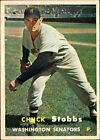 1957 Topps Chuck Stobbs Washington Senators #101 Baseball Card