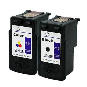 2-Pk-Canon-PG-210-CL-211-Ink-Cartridge-For-PIXMA-MP240-MP250-MP270-MP280-Printer