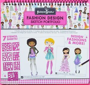 Fashion design sketch portfolio fashion angels free shipping ebay for Fashion angels interior design sketch portfolio