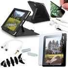 ECover, Bundle forcity 8 Accessory Bundle Leather Case Cover For Apple iPad 1
