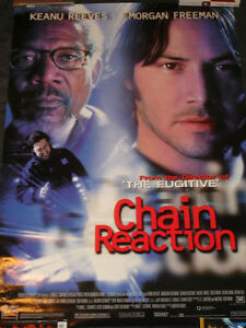image is loading chain reaction rolled movie poster keanu reeves morgan