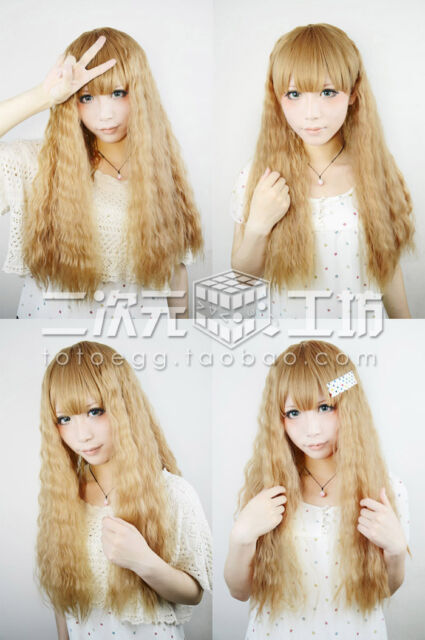 Harajuku Department Lolita fashion Long Curly Cosplay Wig