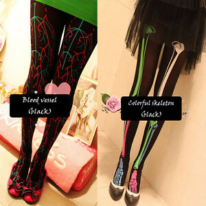 spooky-tattoo-japanese-style-panty-hose-leggings-tights-dress-up-party-5-styles
