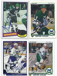 Pat Verbeek Signed / Autographed Hockey Card Hartford Whalers 1990 UD