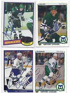 Pat Verbeek Signed / Autographed Hockey Card Hartford Whalers 1990 UD