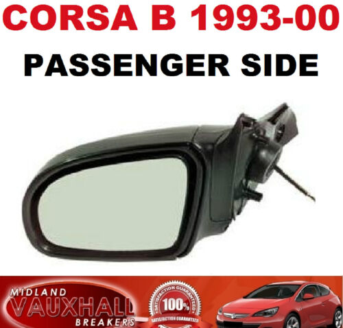 VAUXHALL CORSA 93-00 B MANUAL LEVER BLACK WING MIRROR PASSENGER NEAR LEFT SIDE
