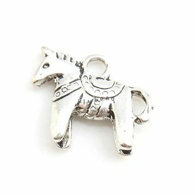 50x Charms Animal Horse Silver Alloy Jewelry Pendants Pretty Fine Gifts