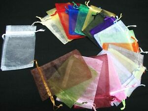 Nice-3-034-X-4-034-Organza-bags-for-jewelry-Gift-Wedding-Favors-Small-bag