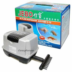 10 outlet jebo p70 air pump indoor aquarium fish tank for Outdoor fish pump