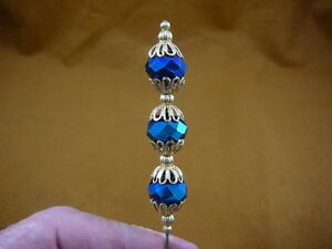 u70-26-3-bead-blue-faceted-glass-bead-filigree-gold-hatpin-Pin-hat-pins-hats