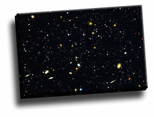 Deepest-Portrait-of-the-Visible-Universe-Hubble-Giclee-Canvas-Picture-Art