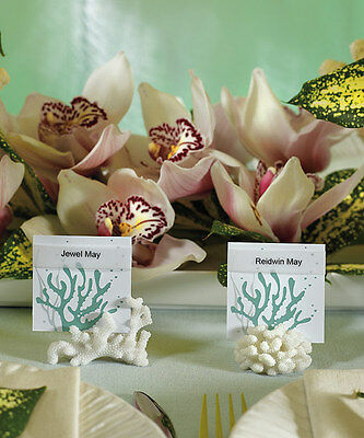 8 Coral Beach Summer Wedding Table Number Sign Holder Reception Place Card Decor